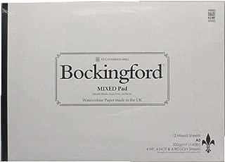 Bockingford Watercolour Paper pad 12 Sheets Mixed Surface Cold Press hot Pressed Rough A5