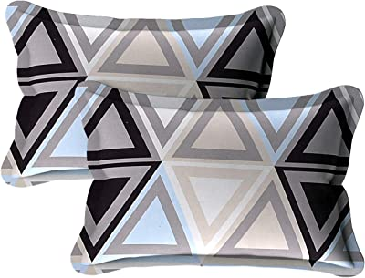 Hind Weave - Microfiber Triangle Pattern Single Bedsheet with 1 Pillow Cover -Black