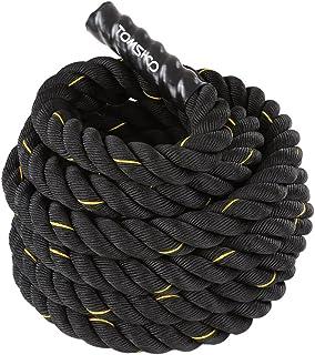 TOMSHOO slagrep träning fitness rep 38 mm/50 mm diameter rep 10 m/12 m/15 m långt rep