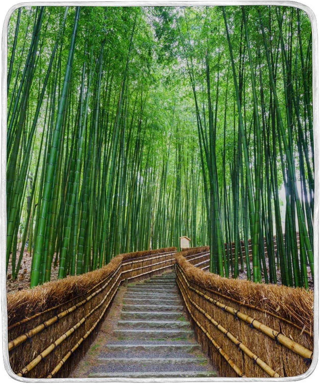 DOSHINE Couvre-lit en Bambou Japonais Doux et léger 127 x 152 cm