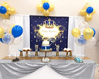 ShinyBeauty 50x50Inch Square Silver Sequin Tablecloth,50x50Inch Tablecloth Perfert for Birthday,for Party,for Wedding