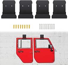 Door Hanger Removable Wall-Mounted Door Storage Rack Bracket for All Jeep Wrangler CJ YJ TJ LJ JK JKU (Set of 4 Hangers)