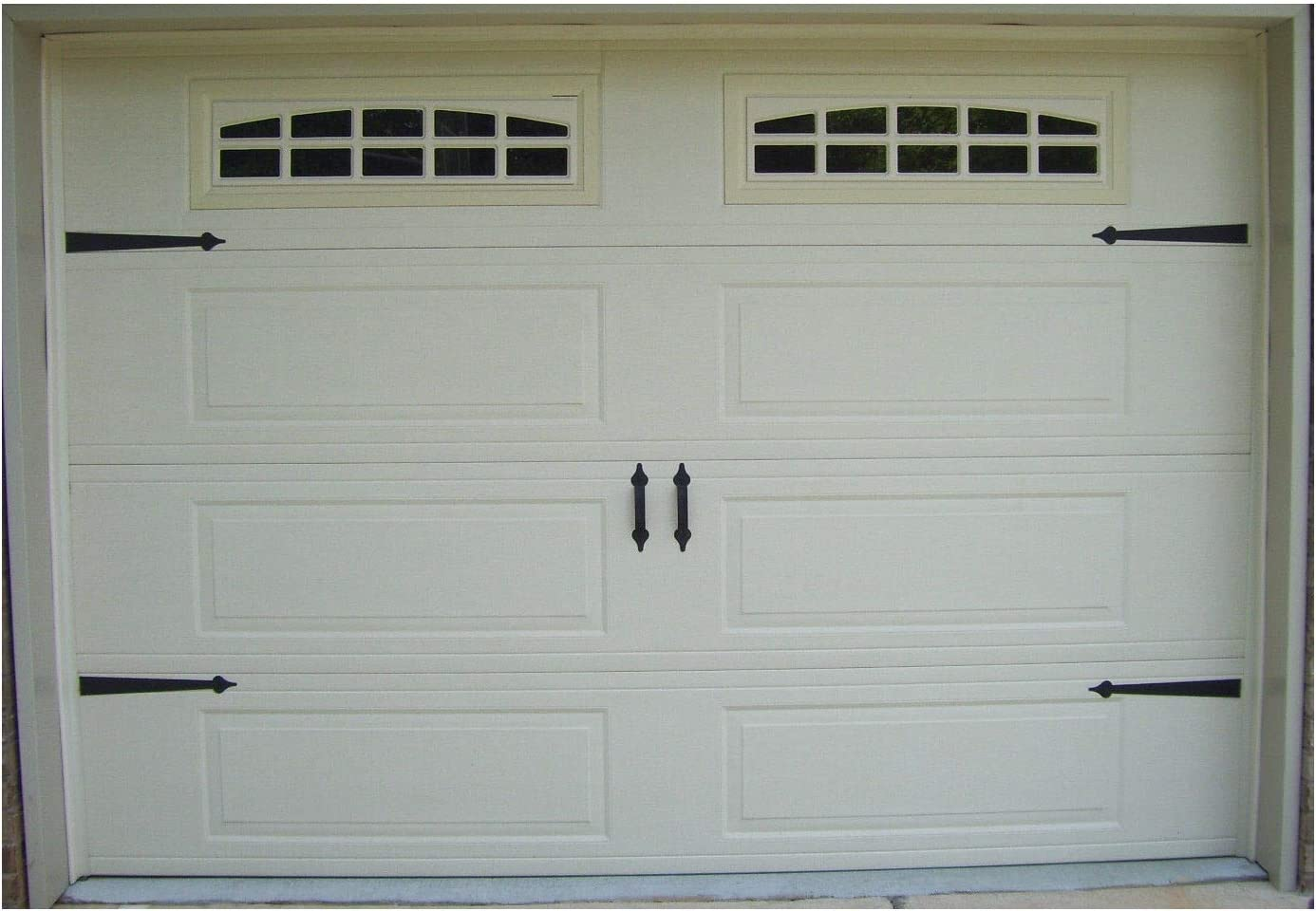 Deluxe Garage Door Decorative Hardware Kit Hinges Handles Includes Screws Amazon Com