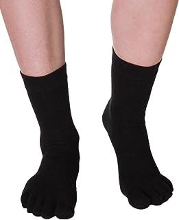 Vitasox, Calcetines para hombre y mujer, de algodón, con talón, cómodos, color negro, sin costuras, paquete de 3 y 6 unidades 6 pares de color negro. 42-46