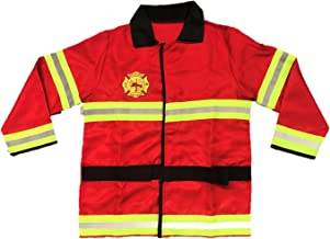 Children's Firefighter Role Play Costume and Accessory Set Kids Boys Girls