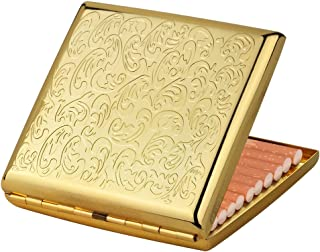 Antique Metal Cigarette Case Box Embossed Gold Cigarette Box as Gift for Man and Woman