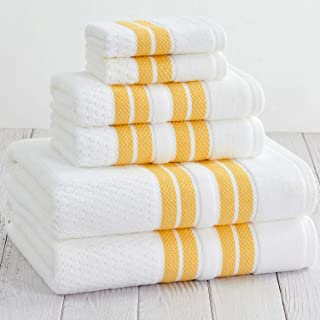 Truly Lou Towels Mayfield Collection (Yellow / White)