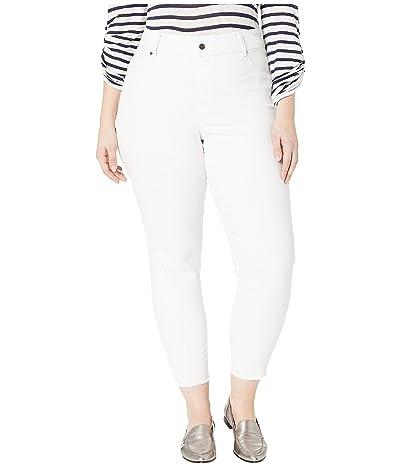HUE Plus Size Ultra Soft Denim Skimmer Leggings (White) Women
