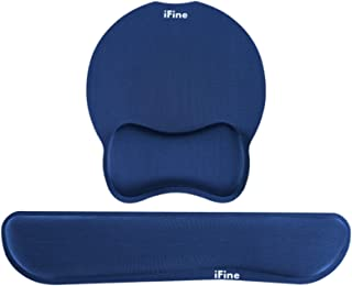 iFine Upgrade Enlarged Memory Foam Set Keyboard & Mouse Wrist Rest Pad Cushion Support for Pc, Computer, Laptop, Mac, Gami...