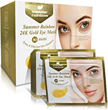 Under Eye Patches, 30 Pairs Eye Collagen Mask, 24K Gold Eye Treatment Masks Anti-Aging for Reducing Dark Circles & Puffine...