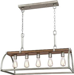 Westinghouse Lighting 6351700 Oak Lane Five-Light Indoor Chandelier, Barnwood & Galvanized Steel