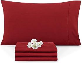 Empyrean Bedding Set of 2 Premium Standard-Size Pillowcases Microfiber Linen, Hypoallergenic & Breathable Design, Soft & C...