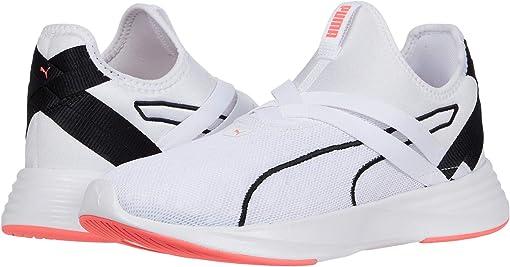 Puma White/Puma Black/Ignite Pink
