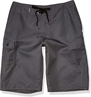 Quiksilver Men's Manic 22 Inch Length Cargo Pocket Boardshort Swim Trunk, Iron Gate, 28