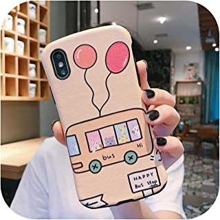 for Iphone11Promax Huawei Oppo Vivo Mobile Phone Shell Protective Cover Small Waist All-Inclusive Soft Shell-Balloon Bus-Oppo Reno
