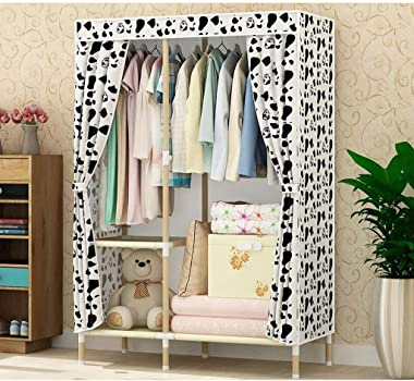ZZF Combination Wardrobe Thick Cloth Closet Simple and Simple Solid Wood Wooden Home Bedroom Modern Dustproof Thick Dormitory