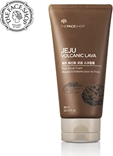 [THEFACESHOP] Jeju Volcanic Lava Pore Exfoliator Foaming Scrub For Facial Blackhead Cleansing (150 mL/5.0 Oz)