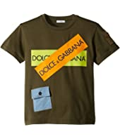 Dolce & Gabbana Kids - D&G Army Logo T-Shirt (Big Kids)