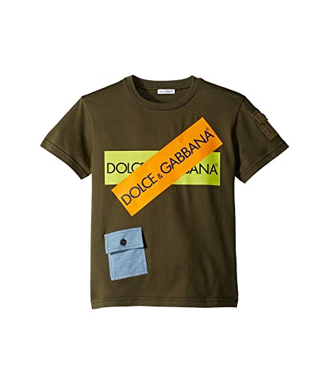 Dolce & Gabbana Kids D&G Army Logo T-Shirt (Big Kids)