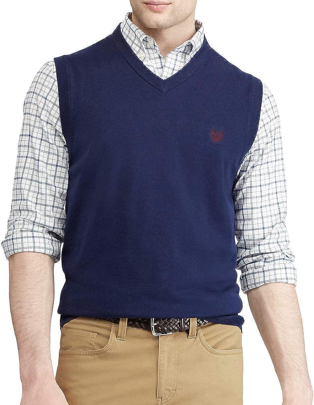 Chaps Men's Key Item Cotton V-Neck Sweater Vest