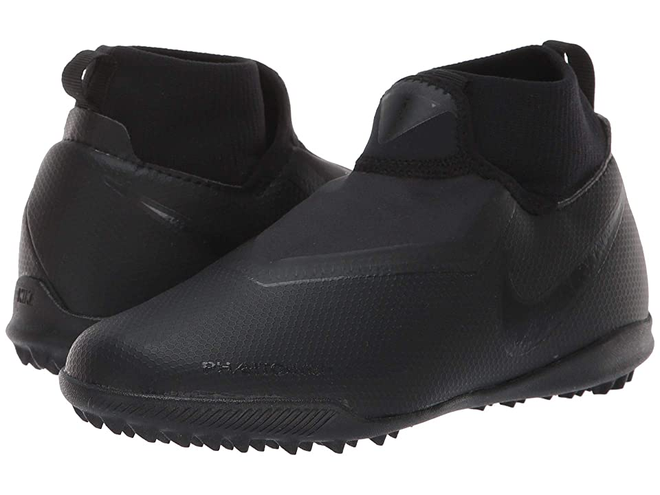 Nike Kids JR Phantom Vision Academy DF TF Soccer (Little Kid/Big Kid) (Black/Black/Light Crimson) Kids Shoes