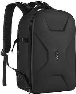 MOSISO Mochila Cámara,DSLR/SLR/Bolso para Fotográfica sin Espejo Funda Rígido Impermeable con Soporte Trípode&Compartimento Portátil Compatible con Canon/Nikon/Sony/dji Mavic Drone,Negro