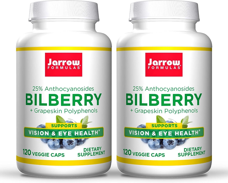 Jarrow Formulas Bilberry + Large discharge sale Grapeskin Polyphenols mg - 280 Ve 120 specialty shop