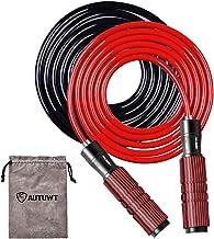 Gewogen springtouw set [6MM touw & Plus 9MM touw], verstelbare springtouw, schuimwikkelingen rond aluminium handgrepen, vo...