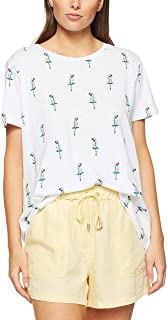 French Connection Women's GEO Parrot TEE, Summer White/Multi