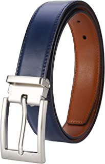Lavemi Mens Belt 100% Italian Cow Leather Length Adjustable Dress Casual Belts for men,Trim to Fit,Detachable Buckle
