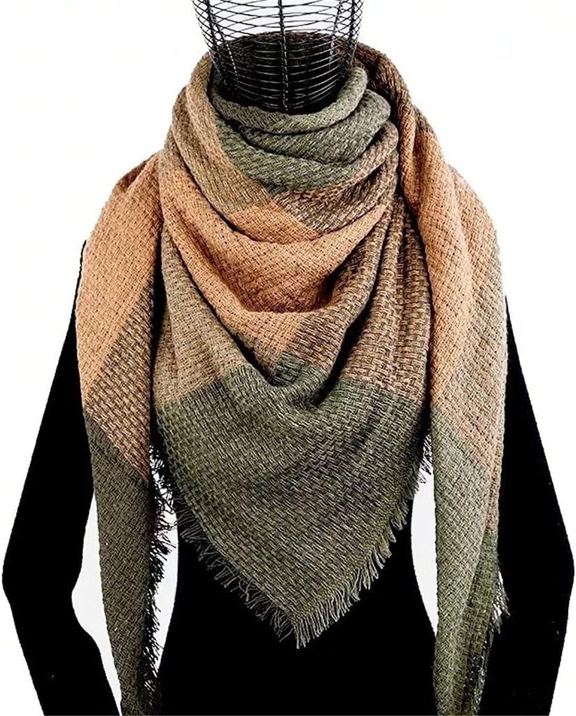 YCZDG Winter Cashmere OFFer price Plaid Scarf Woman Shawl Triangle Ba Poncho