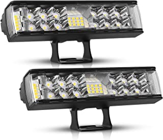 AutoFeel LED Light Bar 2PCS 7 Inch 60W LED Pods Flood Spot Beam Combo Off Road Driving Fog Light for Jeep Truck SUV Ford Chevrolet Boat