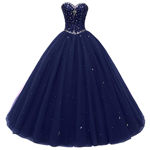 Used Plus Size Ball Gowns: Quinceanera Dresses Navy Blue: Amazon.com