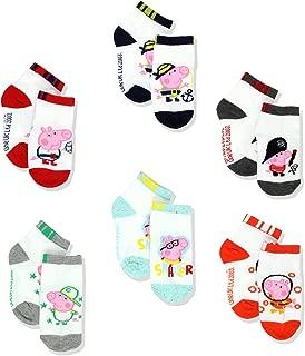 Peppa Pig George Boys 6 pack Socks (Toddler)