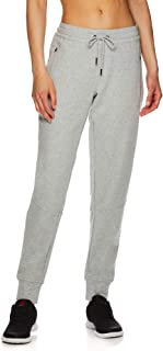 Reebok Women's Slim Fit Jogger Pants - Mid Rise Waist Athleisure Sweatpants for Women