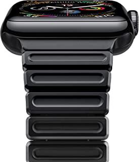 [New-Version] Oittm Stainless Steel Link Bracelet for Apple Watch Series 4 44mm & Series 3/2/1 42mm, iWatch Replacement Watch Band Strap with Butterfly Folding Clasp, Link Remover (Black)