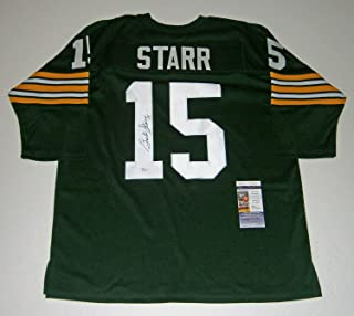 Packers Bart Starr Autographed Signed Custom Green #15 Jersey JSA Autographed Signed