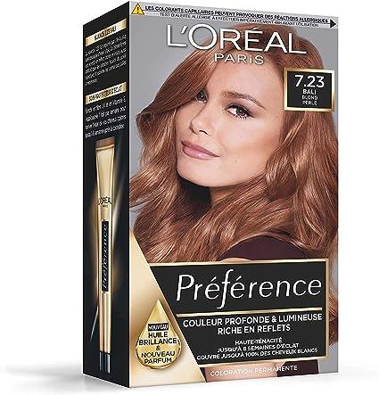 LOreal Preference Infinia 7.23 Bali Dark Rose Gold Tinte permanente para el cabello, paquete de 3