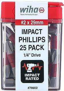 Wiha 76602 Terminator Impact Insert Bit Phillips #2 Pack of 25 Bits