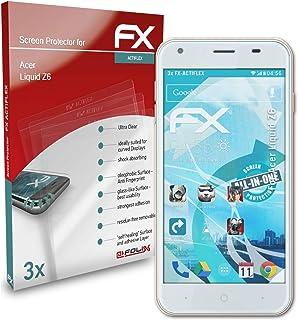 atFoliX Skärmskydd är kompatibel med Acer Liquid Z6 Film, ultraklart och flexibelt FX Skärmskyddsfilm (3X)