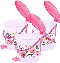 Kuber Industries Exclusive 3 Pcs Virgin Plastic Medium Size Dustbin/Garbage Bin (Pink) KSKTC1974