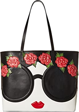 Missy Stace Face Flowers Large Perfect Tote