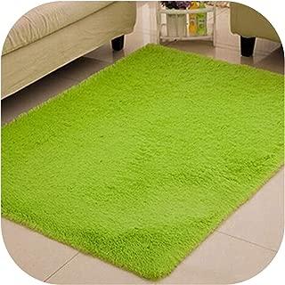 Black Soft Carpets Anti-Skid Plush Hair Carpet Faux Fur Area Rugs Floor Mats for Living Room Bedroom Alfombras,Fruit Green,40CM X 60CM