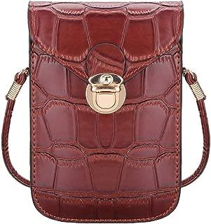 Mobile Phone Mini Bags Small Clutches Shoulder Bag Crocodile Leather Women Handbag Purse