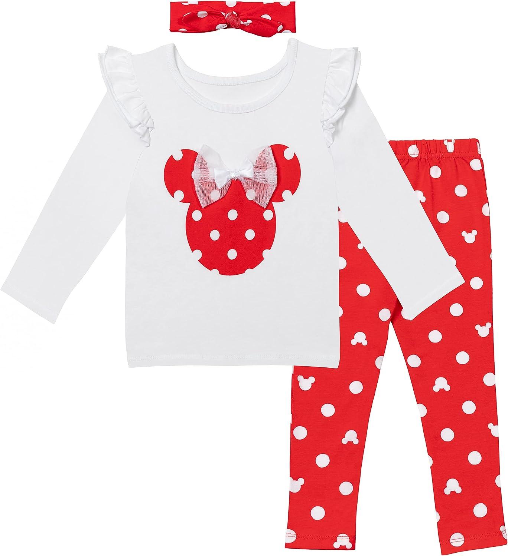 Fresno Mall Disney Minnie Mouse Girls Long Pant T-Shirt Headband Se Ranking TOP13 Sleeve