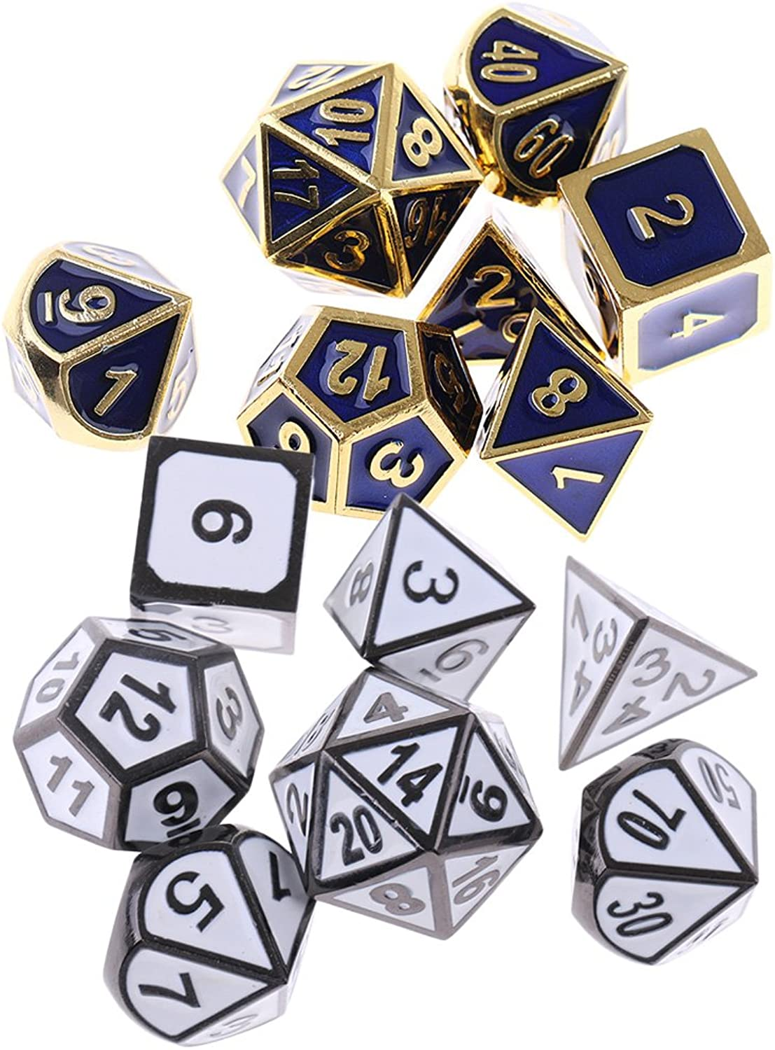 SM SunniMix 14X Polyhedral Card Game Dices Set D4-D20 for Dungeons and Dragons MTG TRPG