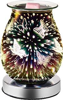 Hangrow Home Fragrance Lamps Fireworks Electronic Fragrance Diffuser Oil Burner 3D Lamp Glass Room Scent Diffuser Night Li...