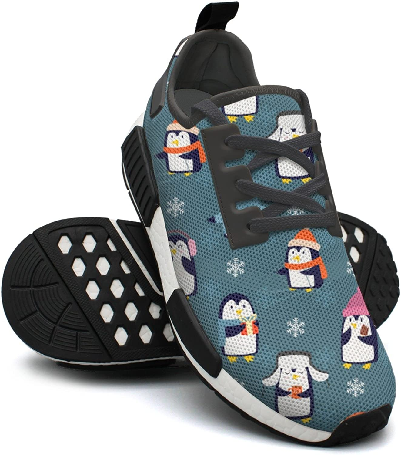 Christmas Penguins Playing Sport Tennis Trail Running shoes for Women NMD