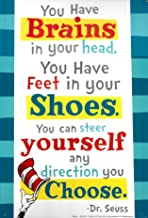 You have Brains in your Head...Dr. Seuss Quotation Decorative Sign Poster