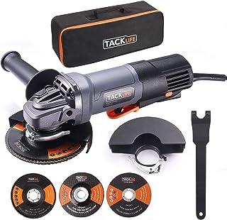 comprar comparacion Amoladora Angular 1300W, TACKLIFE 125 mm, y 12000 RPM Herramienta con Interruptor de Paleta, 3 Discos para Lijar/Pulir/Cor...